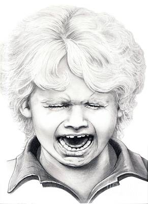 Crying Drawing - Cry Baby by Murphy Elliott