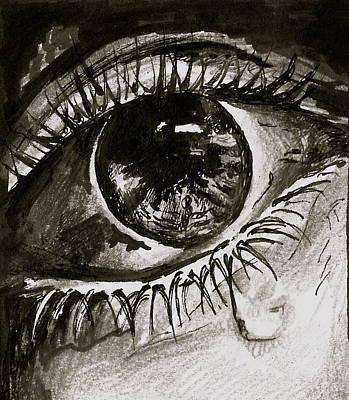 Tear Drawing - Crying  by Ani Koch