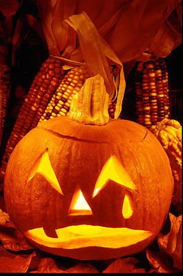 Jack-o-lantern Photograph - Crying Pumpkin by Garry Gay