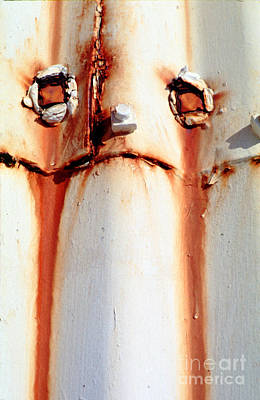 Drippy Photograph - Crying Rust Face by Wernher Krutein