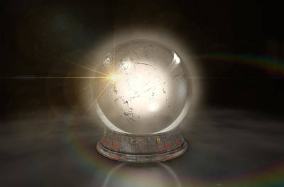 Crystal Ball Glowing Print by Allan Swart