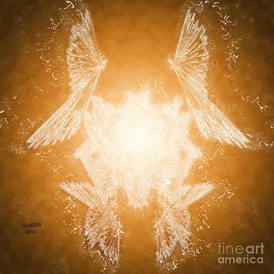 Symmetry Digital Art - Crystal Bird by Melissa Messick
