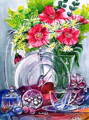 Marble Flower Vases Painting - Crystal Clear In Color No 2 by Jane Loveall