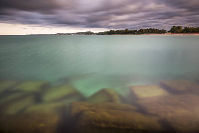 Crystal Clear Lake Michigan Waters Print by Adam Romanowicz