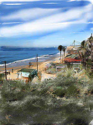 Beach Landscape Mixed Media - Crystal Cove by Russell Pierce