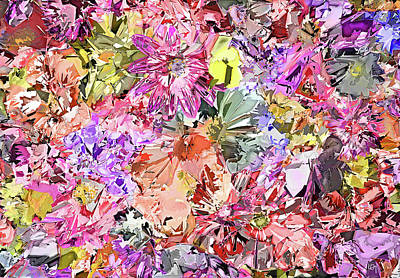 Soft Abstract Flower Bed  Original by Lawrence O'Toole