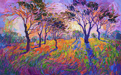Early California Landscape Painting - Crystal Grove by Erin Hanson