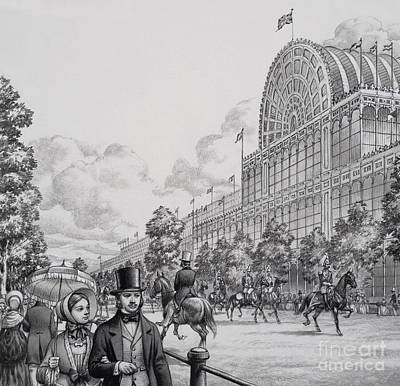 Hyde Park Painting - Crystal Palace by Pat Nicolle