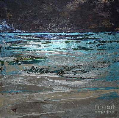 Silver Turquoise Painting - Crystal Sea by Donna McLarty
