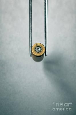 Terrorism Photograph - Csi Bullet Shell Evidence  by Carlos Caetano
