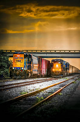Locomotives Photograph - Csx Two For One by Marvin Spates