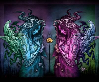 Cthluhu Rainbow Print by David Bollt