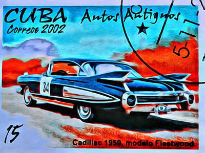 Epoca 1959 Photograph - Cuba Antique Auto 1959 Fleetwood by Judy Bernier