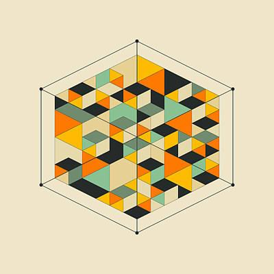 Modern Abstract Art Digital Art - Cube 2 by Jazzberry Blue
