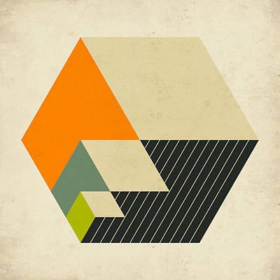Modern Abstract Art Digital Art - Cubes 15 by Jazzberry Blue