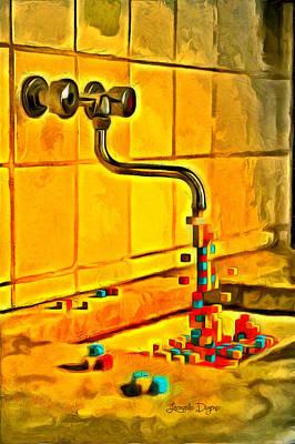Stylized Painting - Cubic Water by Leonardo Digenio