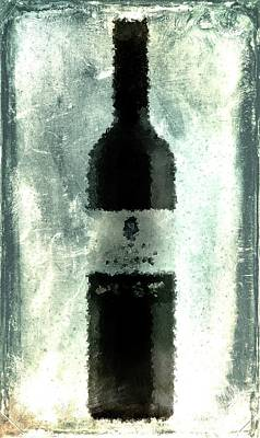Cubist Red Wine Print by Andrea Barbieri