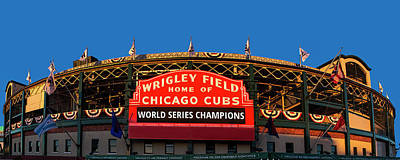 Champion Photograph - Cubs World Series Champs by Andrew Soundarajan