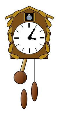 Cuckoo Digital Art - Cuckoo Clock by Miroslav Nemecek