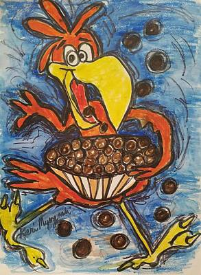 Cuckoo Drawing - Cuckoo For Cocoa Puffs by Geraldine Myszenski