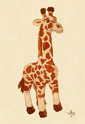 Muppets Painting - Cuddly Giraffe Watercolor by Angeles M Pomata