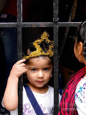Earrings Photograph - Cuenca Kids 621 by Al Bourassa