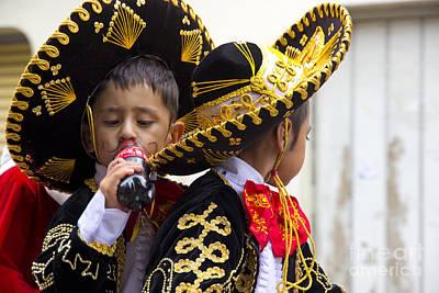 Smiling Jesus Photograph - Cuenca Kids 680 by Al Bourassa