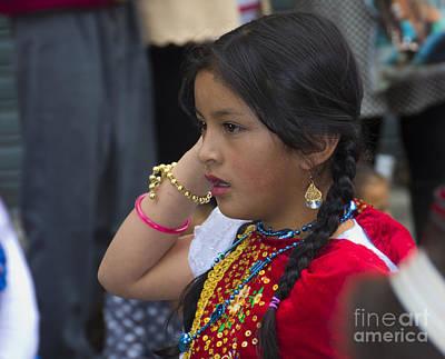 Smiling Jesus Photograph - Cuenca Kids 738 by Al Bourassa