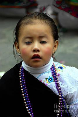 Earrings Photograph - Cuenca Kids 778 by Al Bourassa