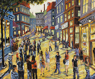 Quebec Painting - Culture In The Street by Richard T Pranke