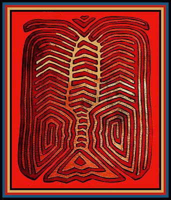 Esprit Mystique Digital Art - Cuna Indian Tribal Lobster by Witches Hammer - Virginia Vivier