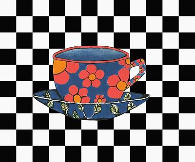 Kathleen Mixed Media - Cup And Saucer by Kathleen Sartoris