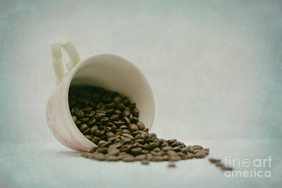 Cup. Coffee Bean Print by SK Pfphotography