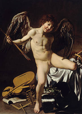 Cupid As Victor  Print by Caravaggio