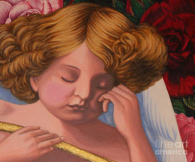 Sleeping Cupid Painting - Cupid Asleep by Amanda Li