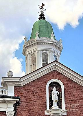 Cupola And Lady Justice Print by Janice Drew