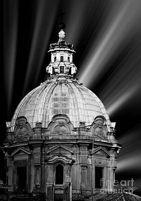 Cupola In Rome Print by Stefano Senise