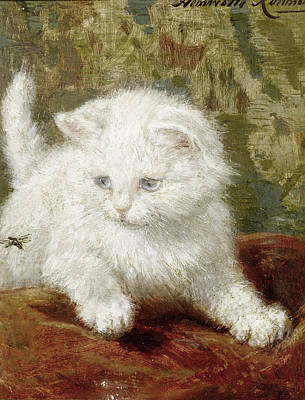 Henriette Ronner-knip Painting - Curiosity by Henriette Ronner-Knip