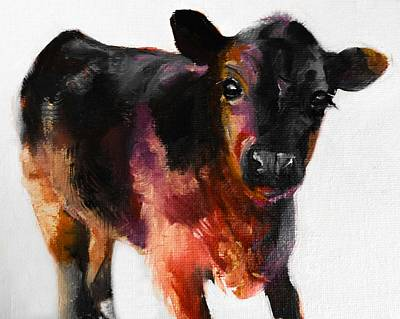 Buster The Calf Painting Original by Michele Carter