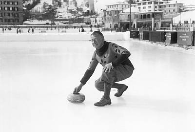 Curling In St. Moritz Print by Underwood Archives