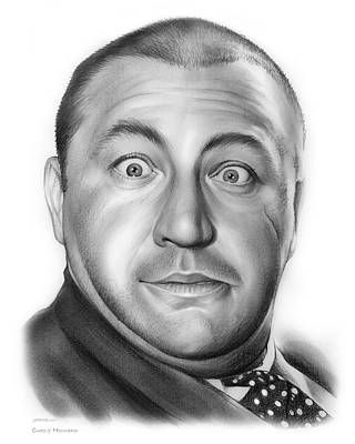 Comedy Drawing - Curly Howard by Greg Joens