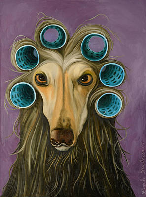 Curly Original by Leah Saulnier The Painting Maniac