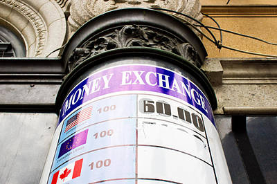 Currency Exchange Print by Tom Gowanlock