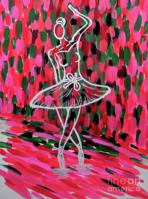 Abstract Handbag Drawing Painting - Curtain Call by Jilian Cramb - AMothersFineArt