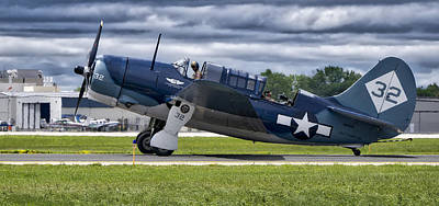 Curtiss Helldiver In Color Print by Steven Ralser