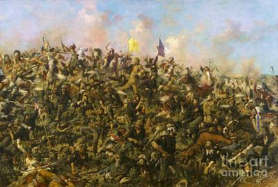 7th Painting - Custer's Last Stand by Pg Reproductions