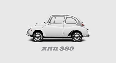 Custom Color 1970 Subaru 360 Print by Ed Jackson
