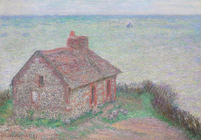Custom Reproductions Painting - Customs House by Claude Monet