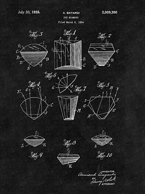 Diamond Engagement Ring Drawing - Cut Diamond Patent by Dan Sproul