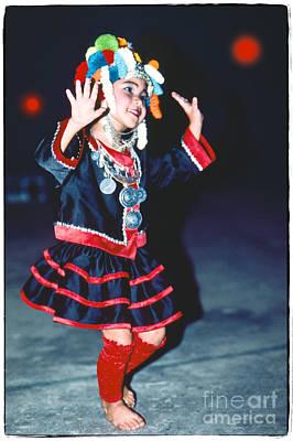Photograph - Cute Little Thai Girl Dancing by Heiko Koehrer-Wagner